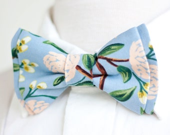 ca76f91297f1 Bow Tie, Mens Bow Tie, Bowtie, Bowties, Bow Ties, Bowties, Groomsmen Bow  Ties, Floral Bow Ties, Rifle Paper Co - Peonies In Dusty Blue