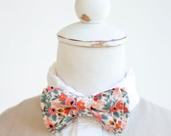 5684937ebdcc Bow Tie, Bow Ties, Boys Bow Ties, Baby Bow Ties, Bowtie, Bowties, Ring  Bearer, Wedding Bow Ties, Rifle Paper Co - Rosa In Peach