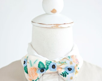 Bow Tie, Bow Ties, Boys Bow Ties, Baby Bow Ties, Bowties, Ring Bearer, Wedding Bow Ties, Rifle Paper Co - Birch Floral In Blush