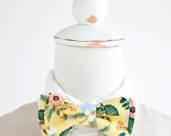 Bow Tie, Bow Ties, Boys Bow Ties, Baby Bow Ties, Bowties, Ring Bearer, Wedding Bow Ties, Rifle Paper Co - Birch Floral In Yellow