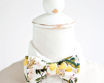 Bow Tie, Bow Ties, Boys Bow Ties, Baby Bow Ties, Bowties, Ring Bearer, Wedding Bow Ties, Rifle Paper Co - Citrus Floral In Cream