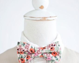 Bow Tie, Bow Ties, Boys Bow Ties, Baby Bow Ties, Bowties, Ring Bearer, Wedding Bow Ties, Rifle Paper Co - Rosa In Blush