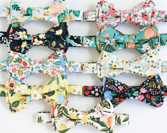 Bow Tie, Bow Ties, Boys Bow Ties, Baby Bow Ties, Bowties, Ring Bearer, Wedding Bow Ties, Rifle Paper Co, Floral - Primavera Collection