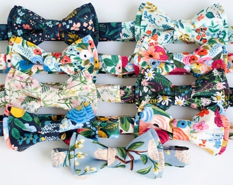 Bow Tie, Bow Ties, Boys Bow Ties, Baby Bow Ties, Bowties, Ring Bearer, Wedding Bow Ties, Rifle Paper Co, Floral - Wildflower Collection