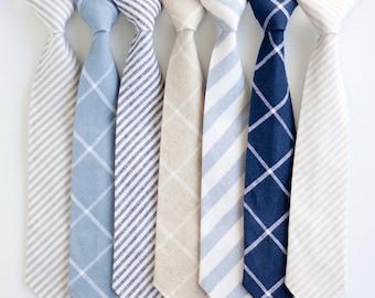Necktie, Neckties, Boys Tie, Baby Tie, Baby Necktie, Wedding Ties, Ring Bearer, Boys Necktie, Floral Ties, Ties - Linen Classic Collection