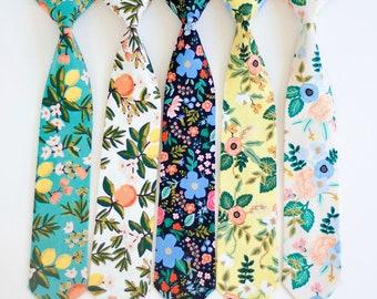 Necktie, Neckties, Boys Tie, Baby Tie, Baby Necktie, Wedding Ties, Ring Bearer, Boys Necktie, Floral Ties, Ties - Primavera Collection