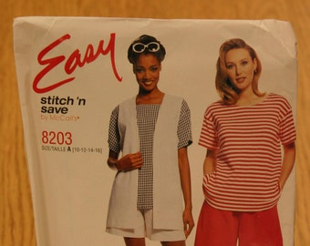 Easy Stitch 'n Save by McCall's Misses Pattern 8203 Sizes 10-16