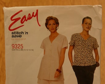 Easy Stitch 'n Save by McCall's Misses Pattern 9325 Sizes 10-16