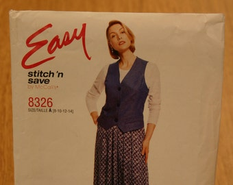 Easy Stitch 'n Save by McCall's Misses Pattern 8326 Sizes 8-14