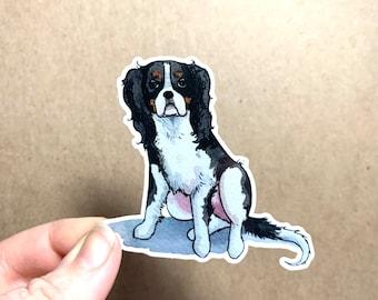 King Charles Cavalier Spaniel Sticker, Dog Breeds Sticker Decal, Dog Vinyl Sticker, 3inch, Doggos - FREE SHIPPING