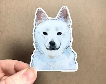 Jindo Dog Breeds Sticker Decal, Korean Jindo Dog Vinyl Sticker, 3inch, Doggos - FREE SHIPPING