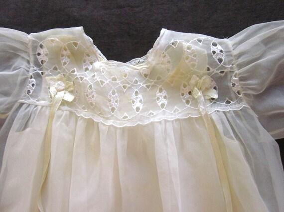 Vintage Chiffon Nightgown Set Satin Baby Coat Dres