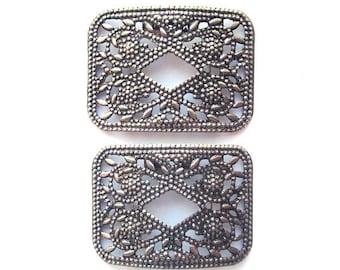 SALE Vintage Shoe Clips Shoe Jewelry Pressed Metal