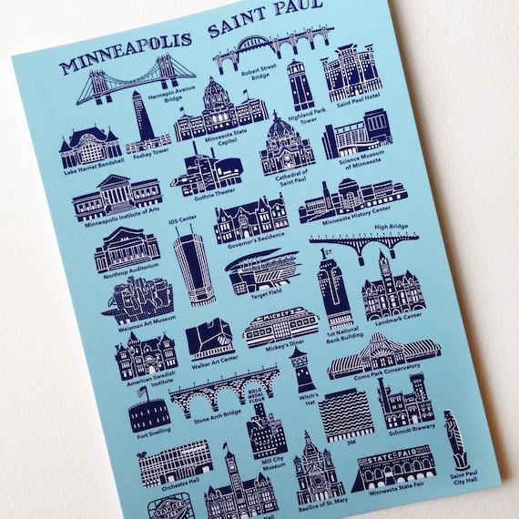 Twin Cities Postcards Twin Cities Landmarks Postcards MplsSt Paul Postcard pack of 10 6 x 4.25 Minneapolis-Saint Paul Postcards