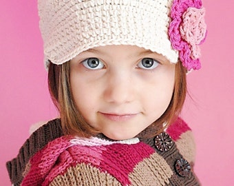Anna Cap Crochet Hat Pattern  Instant Download  (Permission to sell all  finished products) 125fd69b2ed1