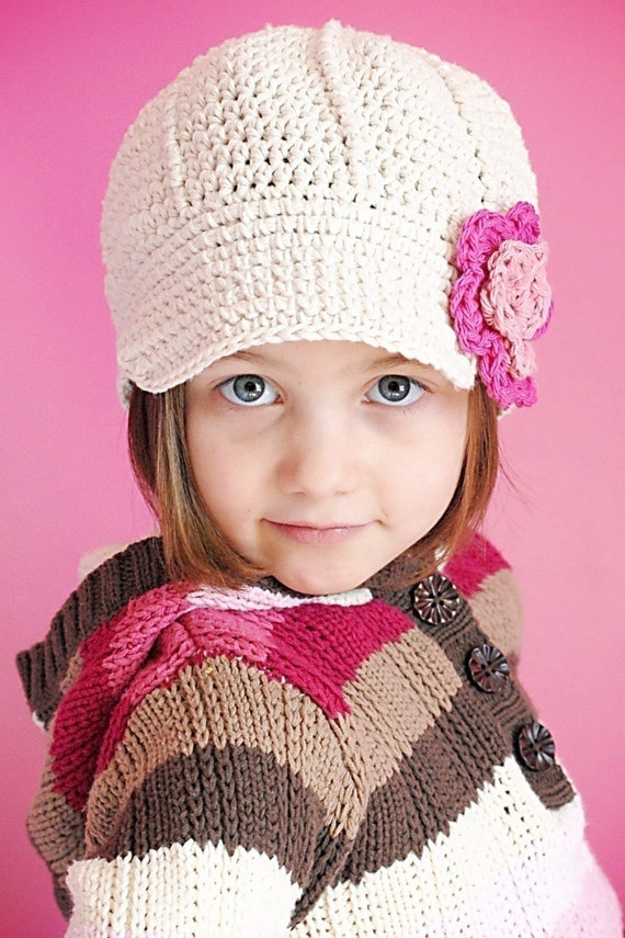 Anna Cap Crochet Hat Pattern Instant Download Permission to  416623705790