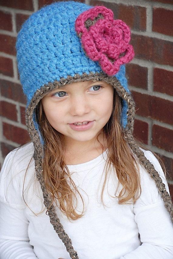 Chunky Earflap Hat Crochet Pattern Instant Download Etsy