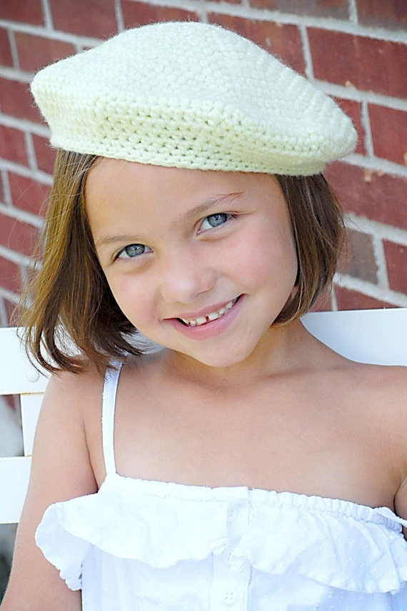 Bella Beret Crochet Hat Pattern Instant DownloadPermission  386ba6747fb2