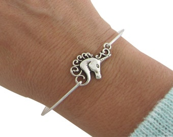 Unicorn Bracelet Unicorn Charm Bracelet Unicorn Jewelry for Adult Women Bridal Shower Bride Bridesmaid Mythical Creature Mythology Jewelry