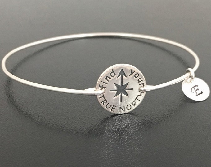 Find Your True North Sterling Silver Inspiration Bracelet for Women Inspiration Gift North Star Jewelry Inspiration Jewelry for Daughter
