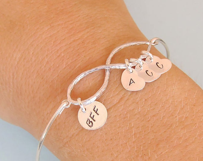 Set of 3 BFF Bracelets Jewelry for 3 Best Friends Birthday Gifts BFFS Personalized BFF Gift Set 3 Best Friends Bracelets Gift Friends Group