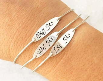 3 Sisters Bracelets Sterling Silver Sisters Jewelry 3 Sister Gifts for Christmas Present Sisters Three Sisters Bracelets Three Sisters Gifts