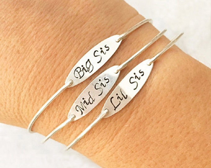 Three Sisters Bracelets Sterling Silver Sister Bracelet Set Sister Jewelry Gifts for Three Sisters Jewelry for 3 Sister Gifts from Sister
