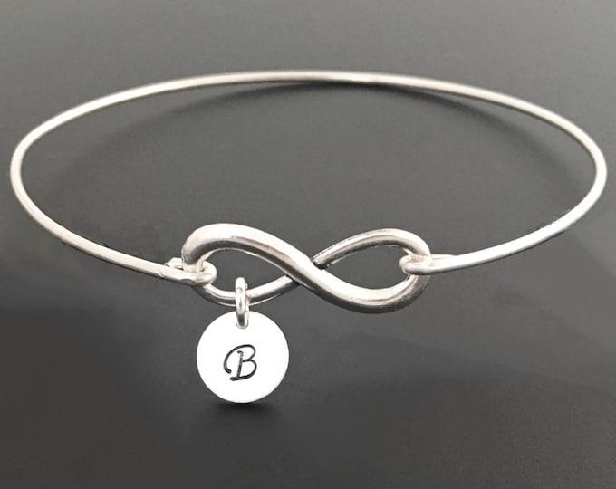 Personalized Bridesmaid Mini Infinity Bracelet Custom Bridesmaid Gift Idea Bridesmaid Jewelry Bridesmaid Bracelet Infinity Initial Bracelet