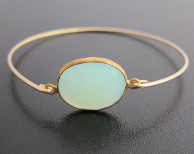 Seafoam Green Chalcedony Bracelet, Green Chalcedony Jewelry, Green Stone Bracelet for Women, Sea Foam Green Gemstone Bracelet for Women