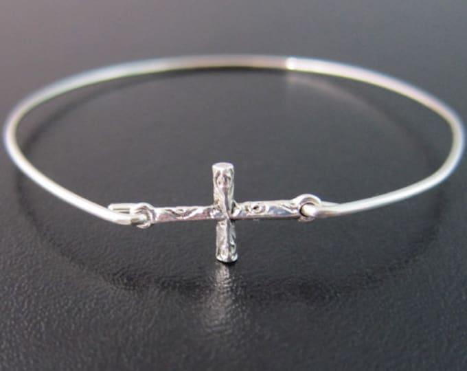 Cross Jewelry for Women Cross Bracelet Silver Tone Faith Bracelet Christian Gift for Her Gift for Friend Christian Bracelet Faith Jewelry