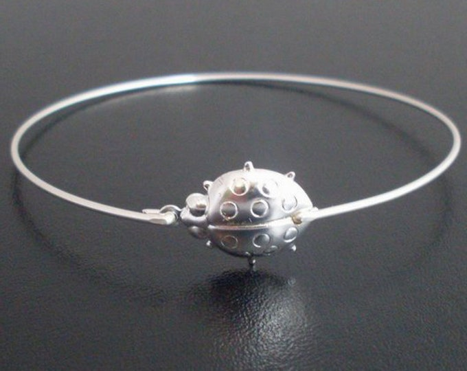 Ladybug Bracelet Ladybug Jewelry Ladybug Charm Bracelet Bangle Lady Bug Bracelet Insect Jewelry Lady Bug Jewelry Silver Tone or Gold Tone