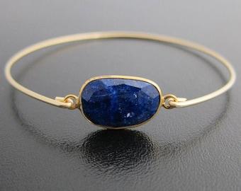 Lapis Lazuli Bracelet Lapis Lazuli Jewelry Blue Lapis Bracelet for Women Blue Lapis Jewelry Blue Gemstone Bracelet Blue Stone Bracelet Gift