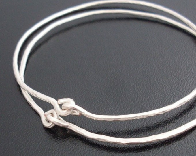 Hammered Bangle Bracelet Set, Two (2) Hammered Bracelets, Hand Crafted Jewelry, Wire Bracelets, Medieval Jewelry Theme, Ancient Bracelets