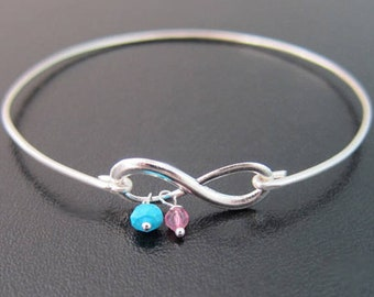 Mothers Day Birthstone Bracelet for Mom, for Sister, for Wife, Personalized Mothers Day Gift from Daughter, from Son, from Kids
