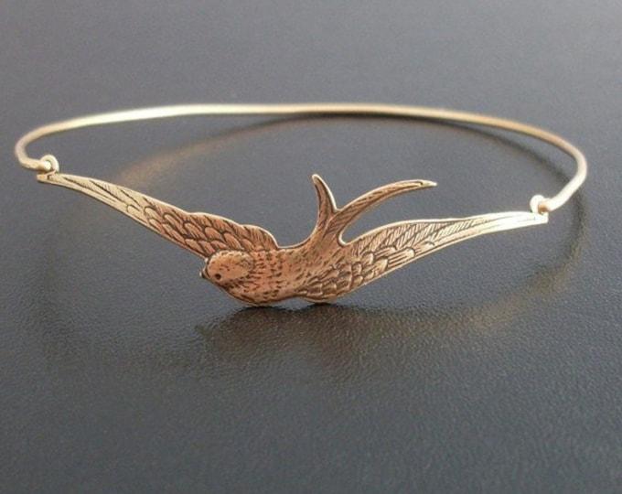 Sparrow Bracelet Sparrow Jewelry Bird Bracelet Bird Jewelry Bird Charm Bracelet Nature Jewelry for Women Bird Gift for Women Sparrow Bangle