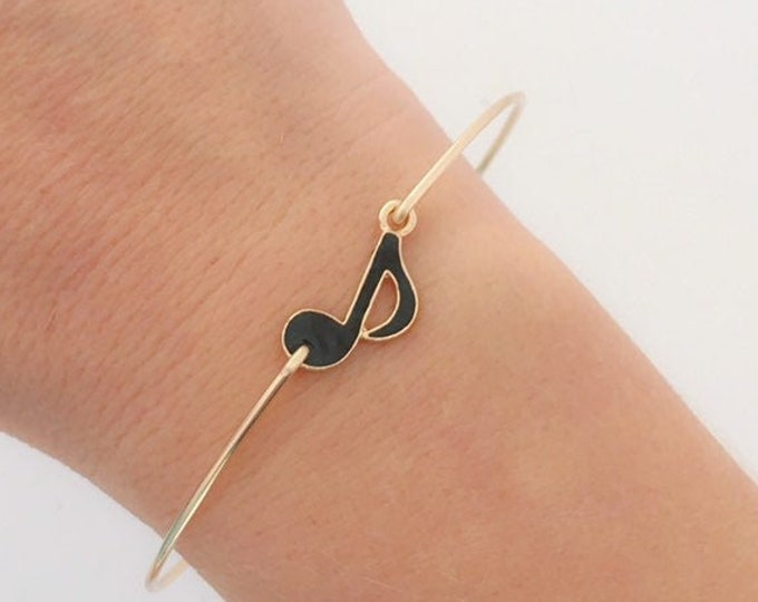 Music Note Bracelet Music Note Jewelry Musical Note Bracelet Musician Gift for Music Teacher Music Fan Songwriter Gift for Singer at Wedding