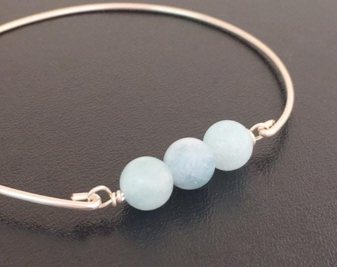 Aquamarine Bracelet for Women March Birthday Bracelet March Birthstone Gift March Birthstone Jewelry Aquamarine Blue Gemstone Bead Bracelet