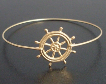 Nautical Ship Wheel Bracelet Boat Wheel Bracelet Ship Steering Wheel Jewelry Sailing Ship Jewelry Ocean Theme Bracelet Traveling Gift Idea