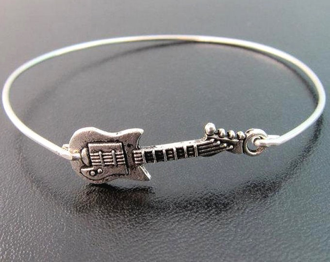Guitar Bracelet for Women Guitar Jewelry Guitar Gift Idea for Her Guitarist Gift Guitar Player Birthday Gift Guitar Lover Guitar Teacher