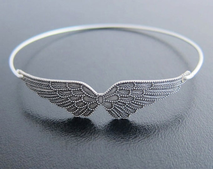 Angel Wing Bracelet Wing Bangle Silver Tone Angel Bracelet Angel Wings Jewelry Angel Gift for Mom Nana Grandma Women Friend Angel Jewelry
