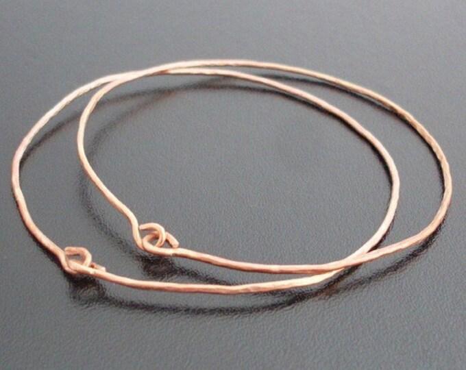 14k Rose Gold Filled Hammered Bracelets for Women Hammered Rose Gold Bangles Set of 2 Festival Bracelet Bangles Old World Jewelry Theme