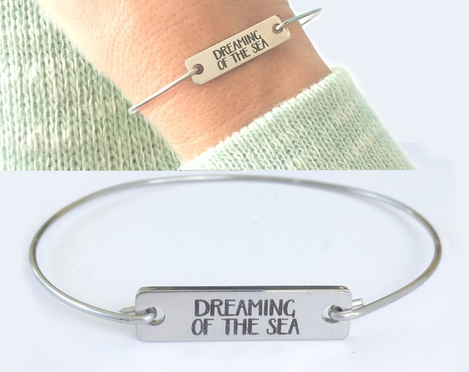 Dreaming of the Sea Bracelet Bangle Sea Jewelry Ocean Bangle Summer Bangle Ocean Jewelry Bracelet for Women Summer Jewelry Vacation Jewelry
