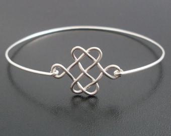 Celtic Knot Bracelet Bridesmaid Knot Bangle Celtic Bracelet for Women Celtic Jewelry Wedding Knot Wedding Jewelry Gift Scottish Jewelry