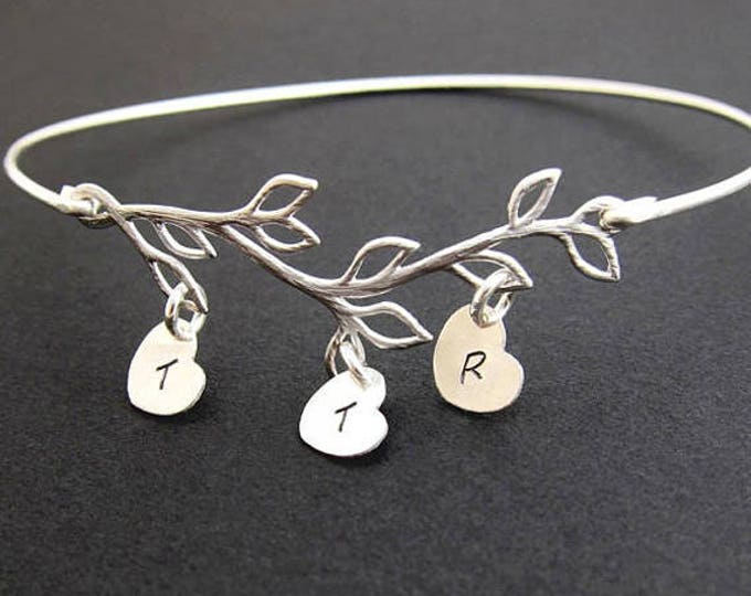 Family Bracelet, Personalized Mother in Law Gift, Mother's Day Gift Idea from Son in Law or Daughter in Law, Mother Family Tree Jewelry