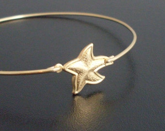 Starfish Jewelry, Starfish Bracelet, Beach Themed Jewelry, Beach Gift, Starfish Charm Bangle Bracelet, Sea Star Bracelet, Star Fish Bracelet