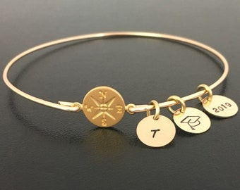 Personalized Graduation Bracelet 2020 for Daughter Best Friend Her College Graduation Gift for Daughter Sister Best Friend College Grad Gift