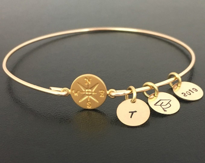 Personalized Graduation Bracelet 2019 for Daughter Best Friend Her College Graduation Gift for Daughter Sister Best Friend College Grad Gift