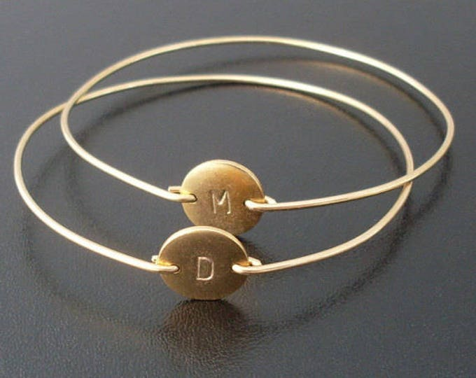 Set of 2 Personalized Jewelry for Women Gift Mother Jewelry Bracelets with Initials of Children Present for Mother in Law Jewelry Set of Two