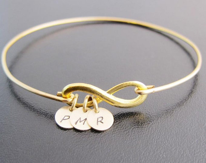 Mini Infinity Friendship Bracelet 2, 3, 4, 5 or 6 Charms Best Friend Gift Birthday Gift Long Distance Friendship Gift Personalized Jewelry