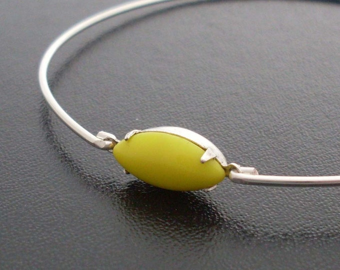 Yellow Bangle Bracelet Yellow Jewelry for Women Lemon Bracelet Yellow Bridesmaid Jewelry Lemon Jewelry Lemon Bangle Lemon Yellow Bracelet